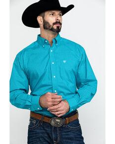 Ariat Men's Bachelder Stretch Plaid Long Sleeve Western Shirt , Multi, hi-res