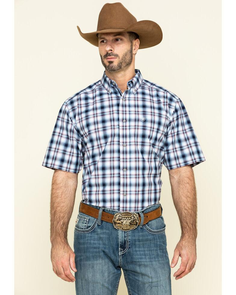 Ariat Men's Thompsonville Multi Plaid Short Sleeve Western Shirt - Big , Multi, hi-res