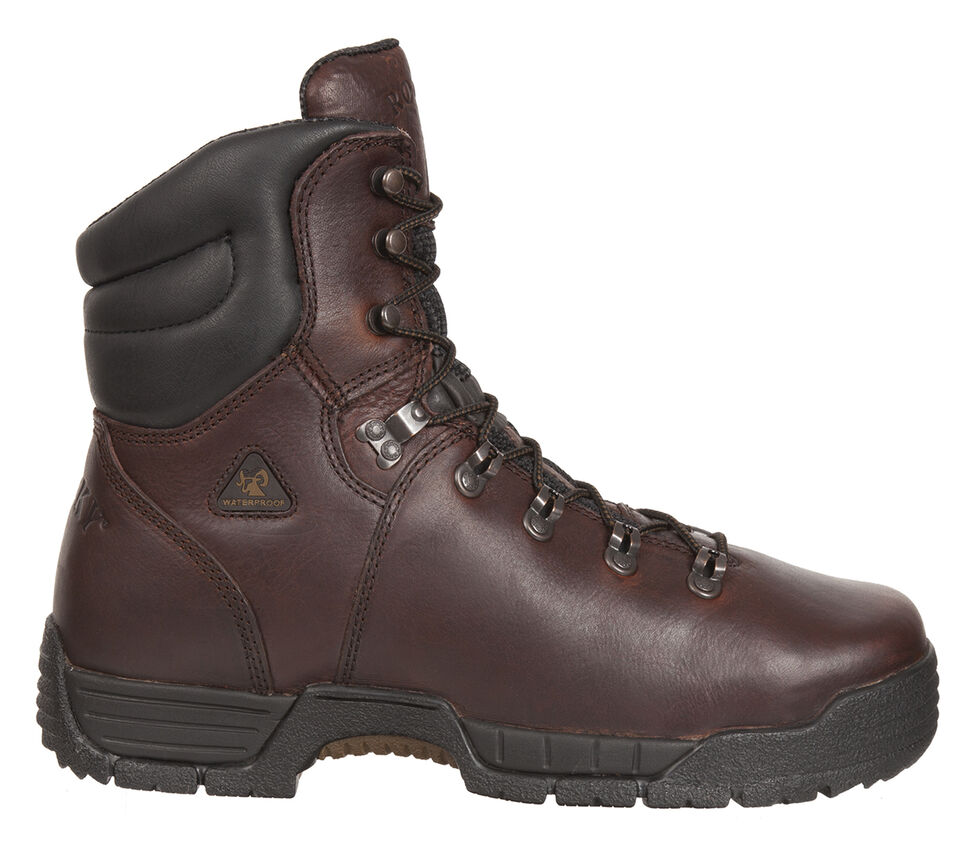 Rocky Men's MobiLite Waterproof Oil-Resistant Work Boots - Steel Toe, Copper, hi-res