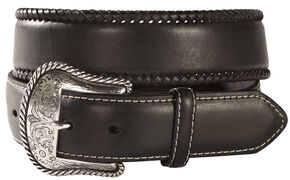 Nocona Top Hand Lace Edge Concho Western Belt, Black, hi-res