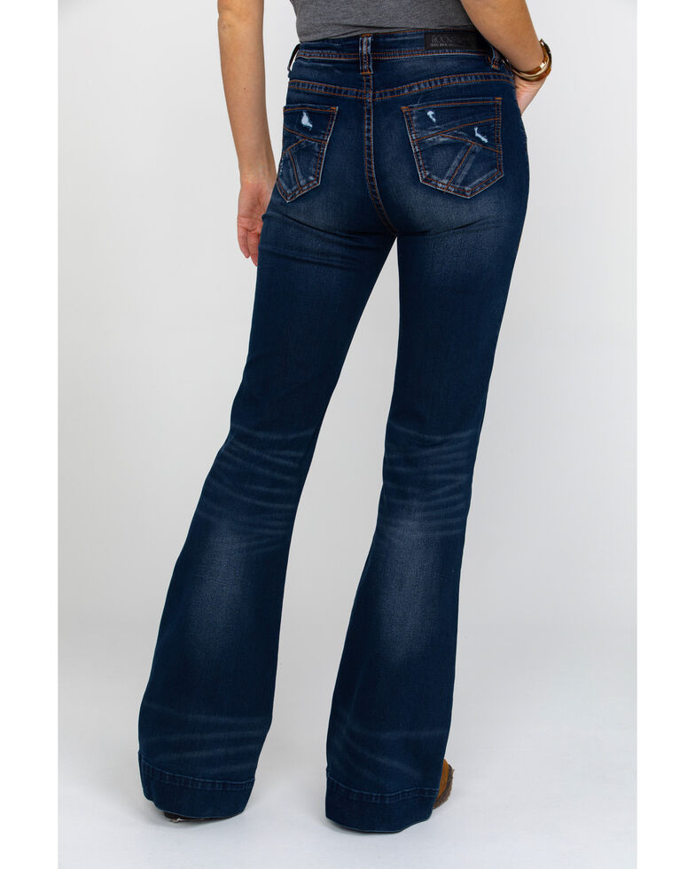 Rock & Roll Cowgirl Women's Basic Pocket Extra Stretch Denim Trousers , Blue, hi-res