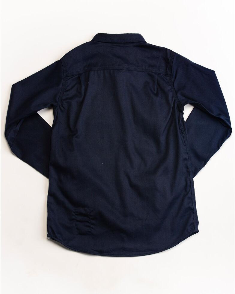 Carhartt Women's Navy Rugged Flex Long Sleeve Shirt, Navy, hi-res