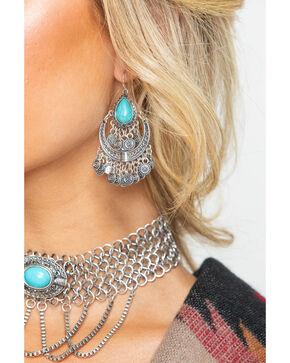 Shyanne Women's Statement Chandelier Earrings, Silver, hi-res