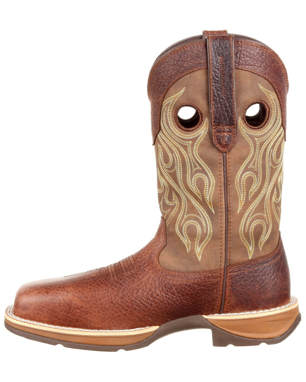 Durango Men's Rebel Waterproof Western Boots - Safety Toe, Brown, hi-res