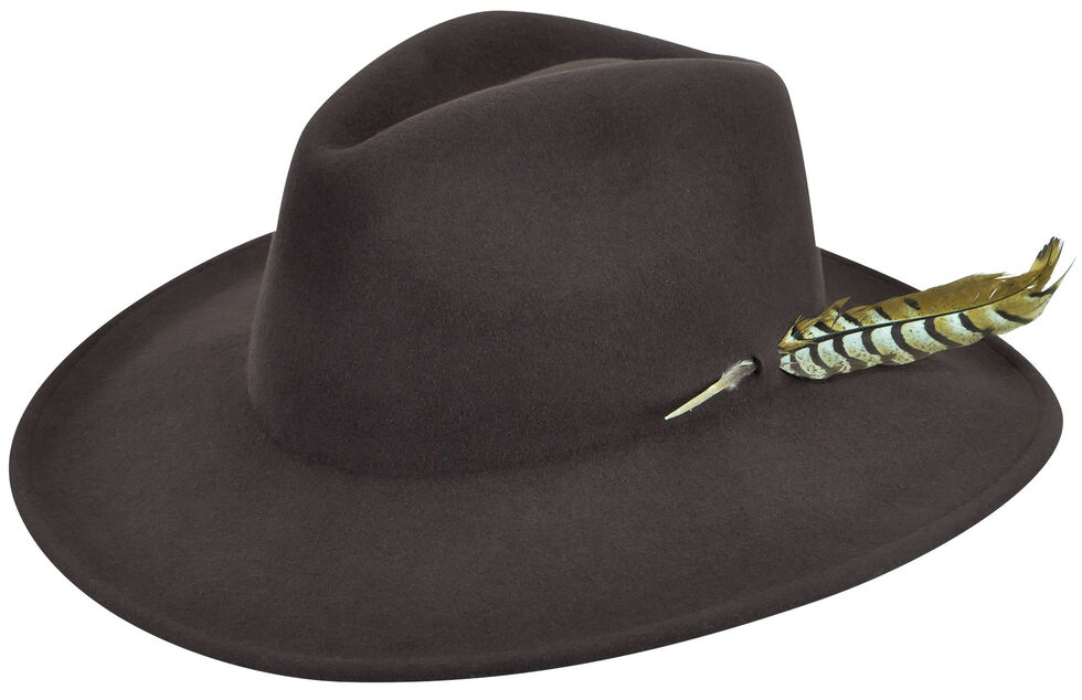 Renegade by Bailey Men's Calico Brown Felt Hat, Brown, hi-res