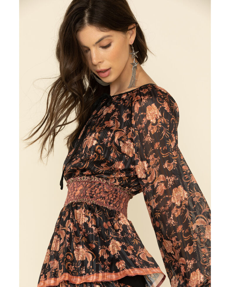 Flying Tomato Women's Floral Tiered Dress, Mauve, hi-res