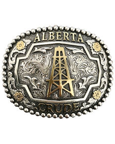 Shyanne Women's Alberta Crude Belt Buckle, Gold, hi-res