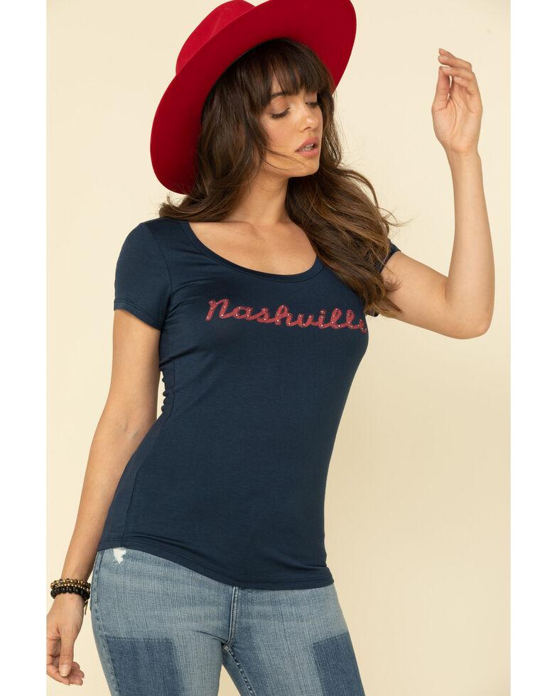 Idyllwind Women's Nashville Trustie Tee , Navy, hi-res