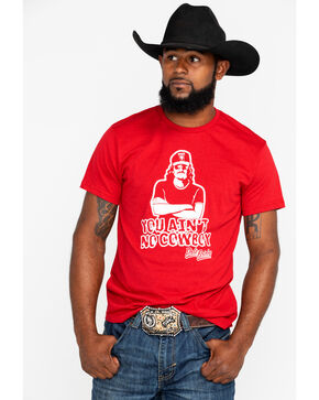 Dale Brisby Men's You Ain't No Cowboy Short Sleeve T-Shirt, Maroon, hi-res