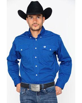Cinch Men's Long Sleeve Print Western Shirt , Blue, hi-res