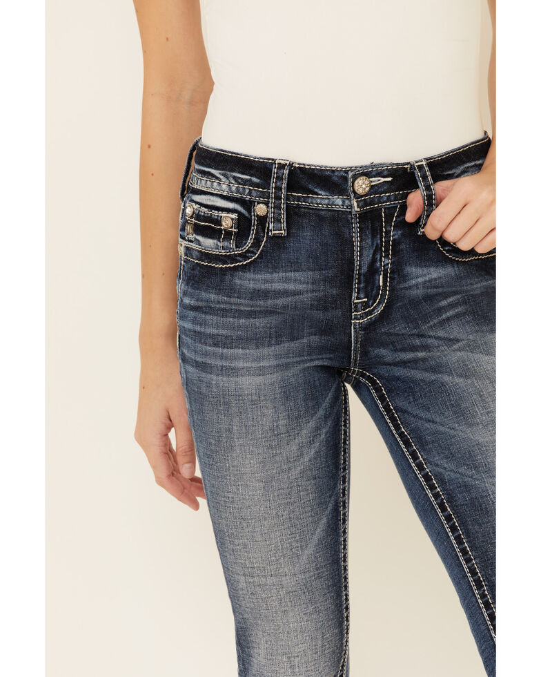 Miss Me Women's Day Dreamer Bootcut Jeans, Blue, hi-res