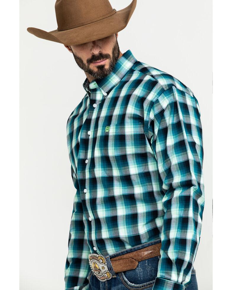 Cinch Men's Multi Large Plaid Plain Weave Button Long Sleeve Western Shirt , Multi, hi-res
