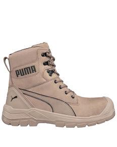 Puma Men's Conquest Waterproof Work Boots - Composite Toe, Brown, hi-res