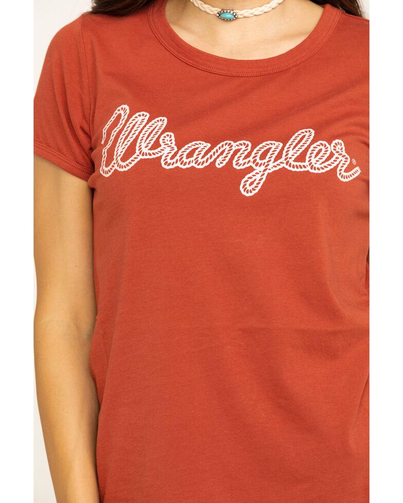 Wrangler Women's Rust Wrangler Logo Graphic Tee, , hi-res