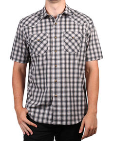 Pendleton Men's Grey Short Sleeve Ombre Plaid Shirt , Grey, hi-res