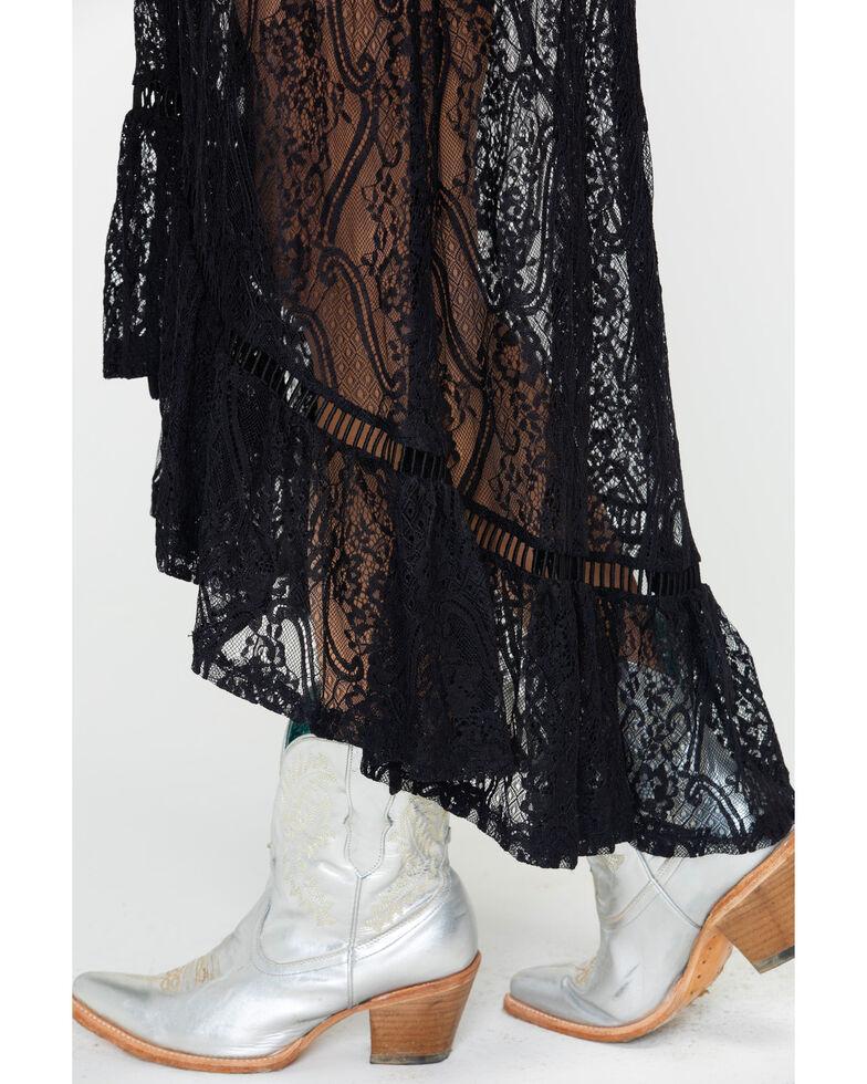 Shyanne Women's Allover Lace Maxi Dress , Black, hi-res