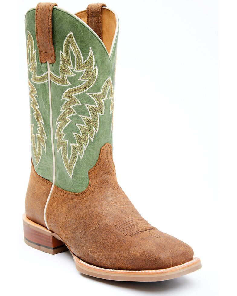 Cody James Men's Xtreme Green Heritage Western Boots - Wide Square Toe, Green, hi-res