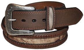 G Bar D Men's Brown Camo Overlay Belt, Brown, hi-res