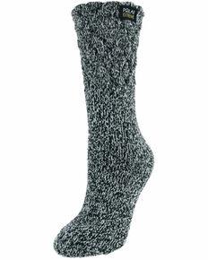 Gold Medal Women's Polar Extreme Heat Textured Crew Socks, Black, hi-res
