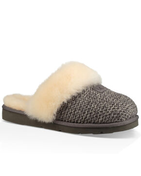 UGG Women's Cozy Knit Slippers, Grey, hi-res