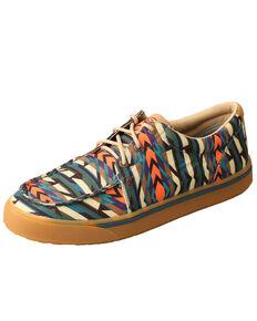 Twisted X Men's Multicolored Hooey Loper Shoes - Moc Toe, Multi, hi-res