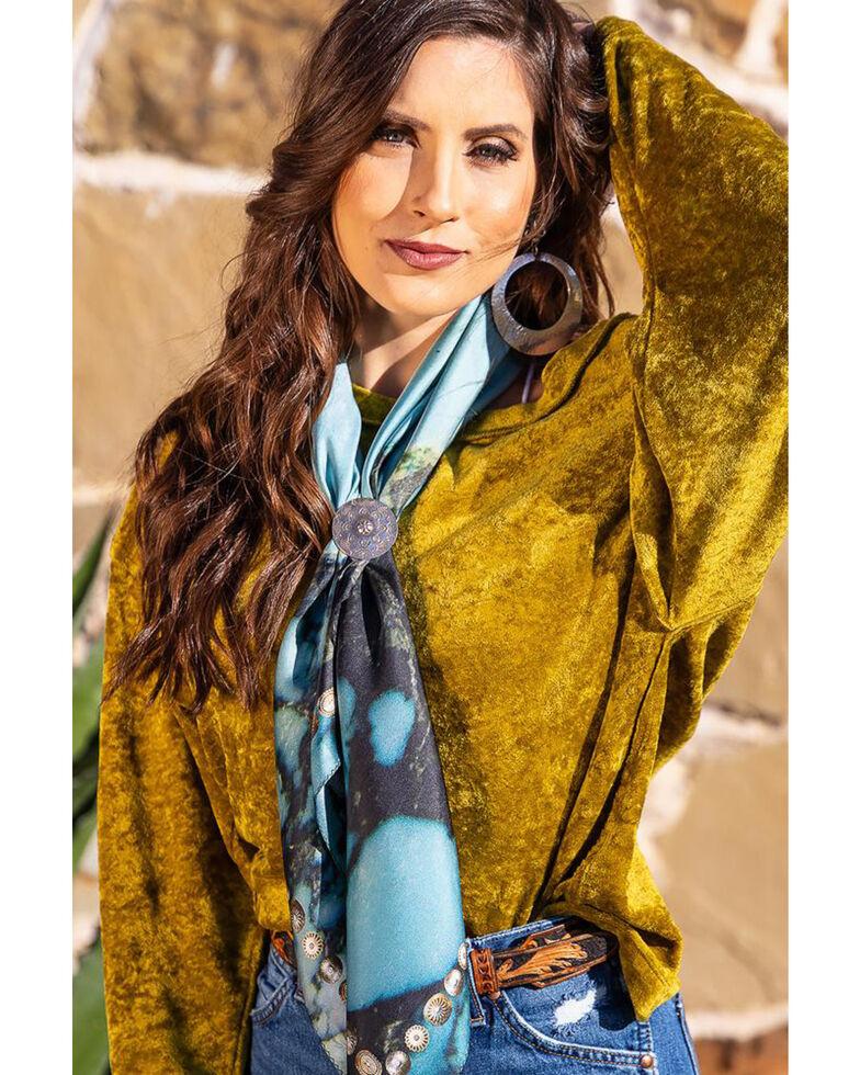Fringe Scarves Women's Kingman Scarf, Turquoise, hi-res