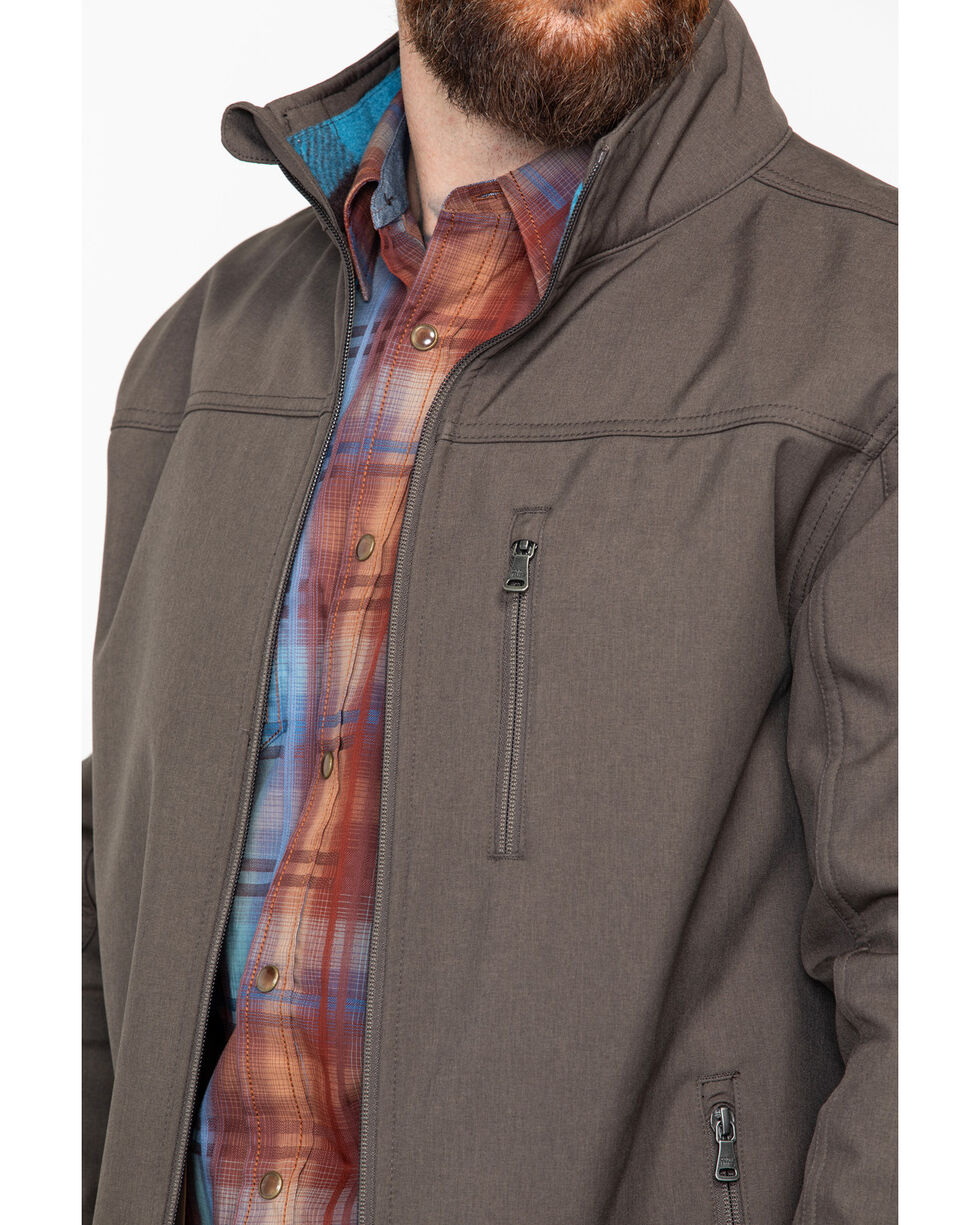 Cody Core Men's Poly Zip-Up Steamboat Soft Shell Jacket , Brown, hi-res