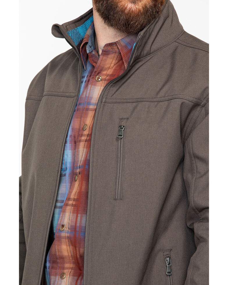 Cody James Core Men's Poly Zip-Up Steamboat Soft Shell Jacket , Brown, hi-res