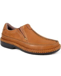 Roper Ramblerlite Slip-On Casual Shoes, Tan, hi-res