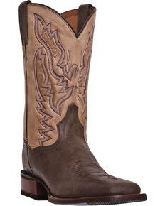 Dan Post Men's Matheson Cowboy Certified - Wide Square Toe, Chocolate, hi-res