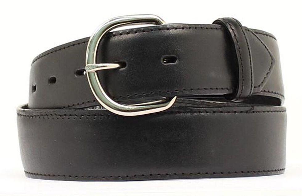 M&F Western Black Leather Money Compartment Belt, Black, hi-res