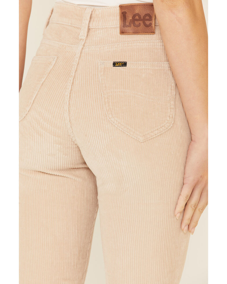 Lee Women's Wide Whale Flare Leg Jeans, Tan, hi-res