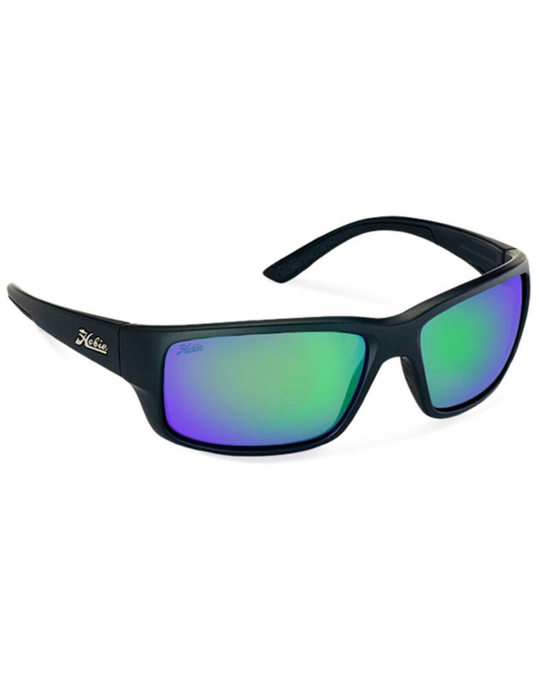 Hobie Men's Snook Satin Black & Copper Polarized Sunglasses , Black, hi-res