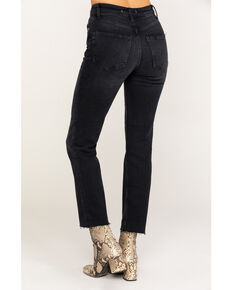 Free people Women's Black High Slim Straight Jeans, Black, hi-res