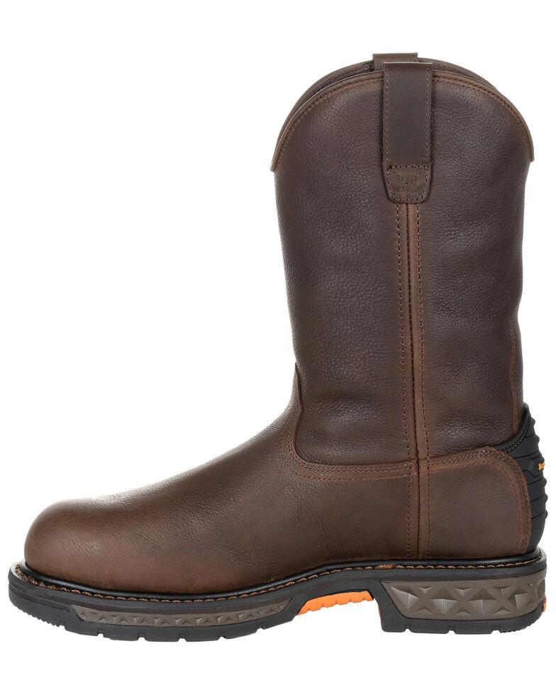 Georgia Boot Men's Carbo-Tec LT Waterproof Western Work Boots - Steel Toe, Brown, hi-res