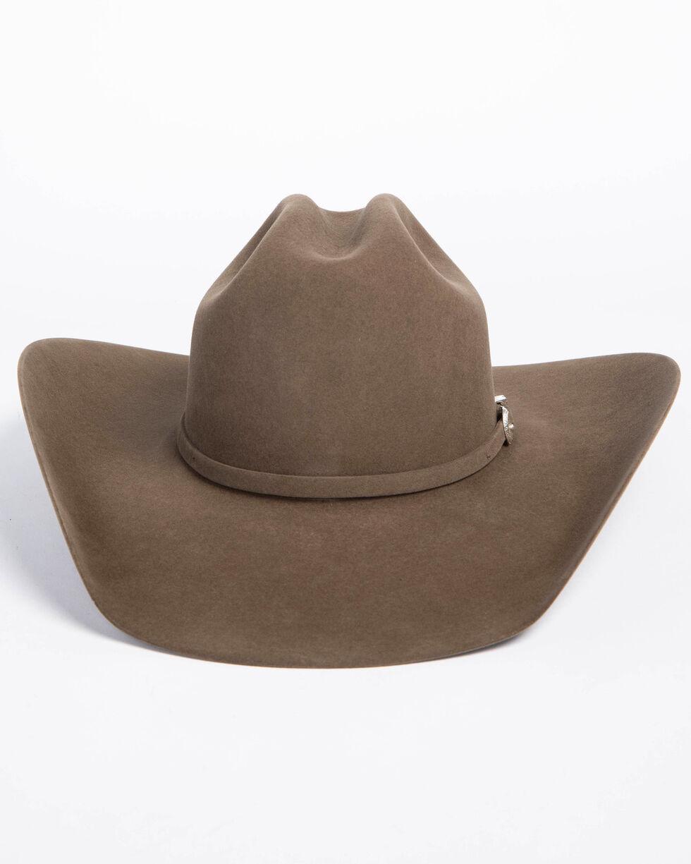 American Hat Co. Men's 7X Pecan Self Buckle Felt Cowboy Hat, Pecan, hi-res