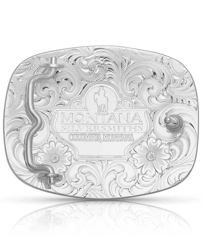 Montana Silversmiths Men's Grand Cowboy Buckle, Silver, hi-res