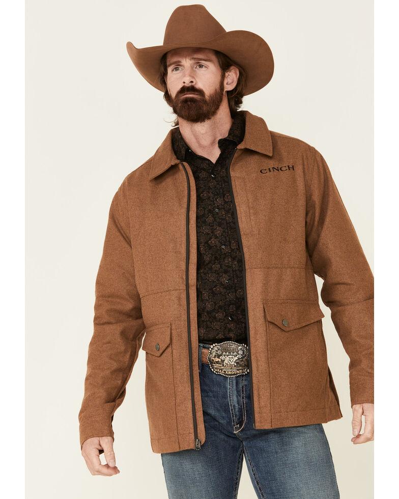 Cinch Men's Camel Brown Wooly Dress Jacket , Brown, hi-res