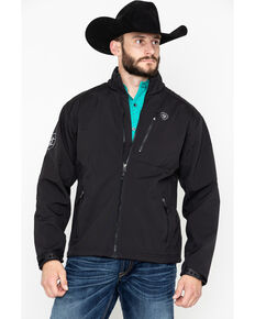 Ariat Men's Black Logo 2.0 Softshell Jacket - Tall, Black, hi-res