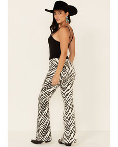 Free People Women's Zebra Penny Bootcut Jeans, Multi, hi-res