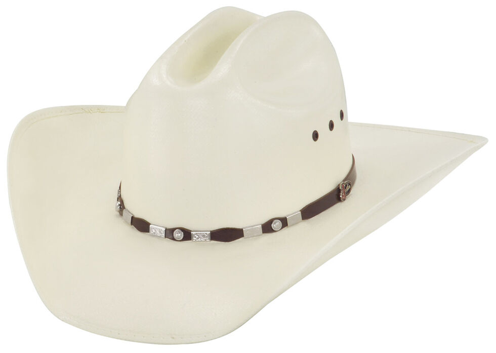 Justin 20X Jacksonville Brown Fancy Concho Hat, Natural, hi-res
