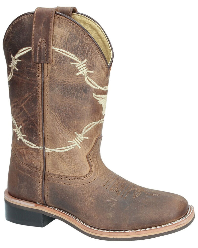 Smoky Mountain Youth Boys' Logan Western Boots - Square Toe, Brown, hi-res