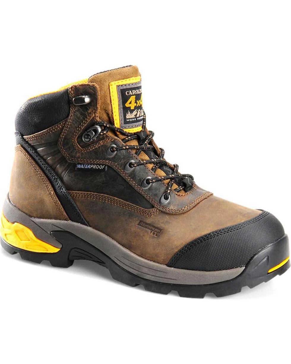 """Carolina Men's 5.5"""" WP 4x4 Hiker Boots - Aluminum Toe , Black, hi-res"""