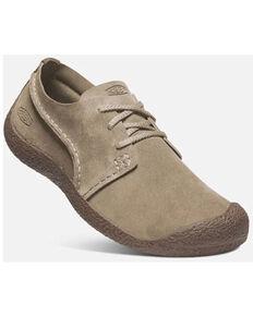 Keen Men's Timberwolf Chestnut Howser Suede Casual Slip-On Oxford Shoe , Chestnut, hi-res