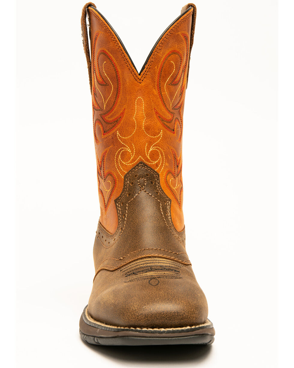 "Cody James Men's 11"" Xero Gravity Lite Western Boots - Square Toe, Brown, hi-res"