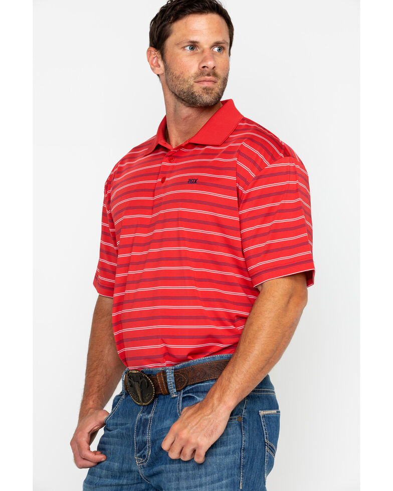 Wrangler 20X Men's Red Striped Polo Shirt, Red, hi-res