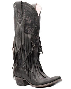 Lane Women's Thunderbird Western Boots - Snip Toe, Black, hi-res