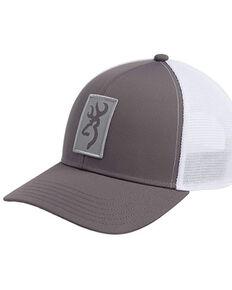 Browning Men's Grey Beacon Buck Logo Patch Mesh-Back Ball Cap , Grey, hi-res