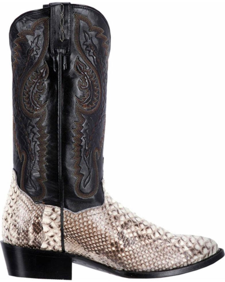 Dan Post Natural Omaha Python Cowboy Boots - Medium Toe, Natural, hi-res