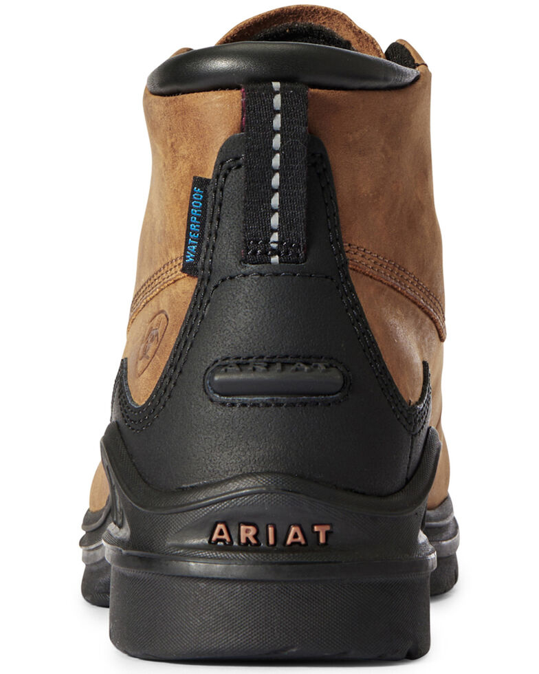 Ariat Women's Barnyard Lace-Up Boots - Round Toe, Brown, hi-res